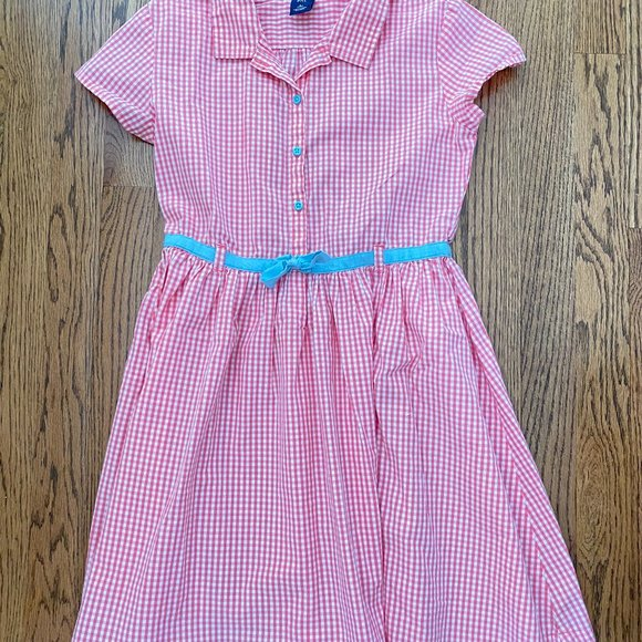 Girl's Gap pink gingham dress size 10